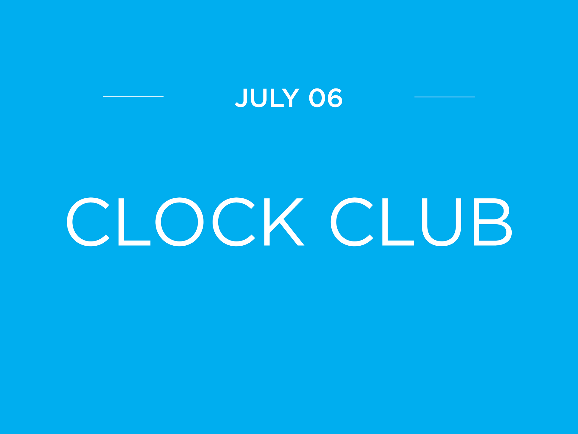 Summer UK Clock Club Meeting ClockClub2018